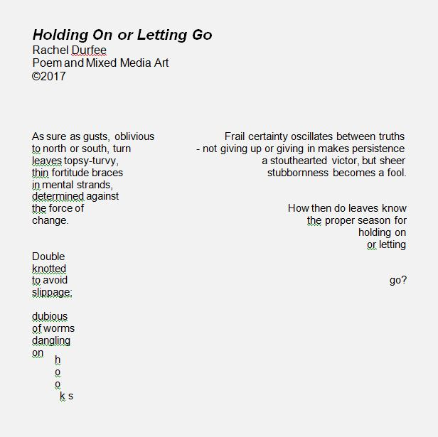 Holding On or letting go poem snip 1